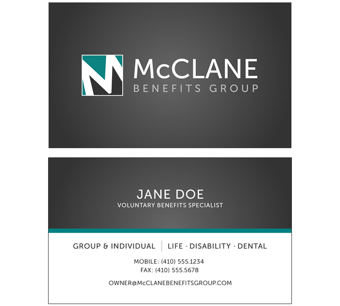 McClane Benefits Group = Business Card